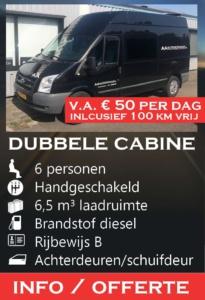 D5V dubbele cabine transportbus