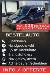 bestelauto BVZ AA Autoverhuur Voorschoten Leiden Den Haag