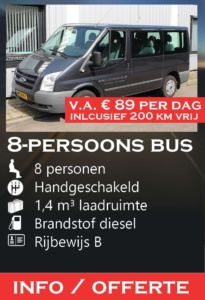 8-persoons bus